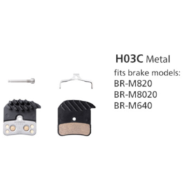 Shimano Metal Brake Pads w/ Ice-Tech - H03C