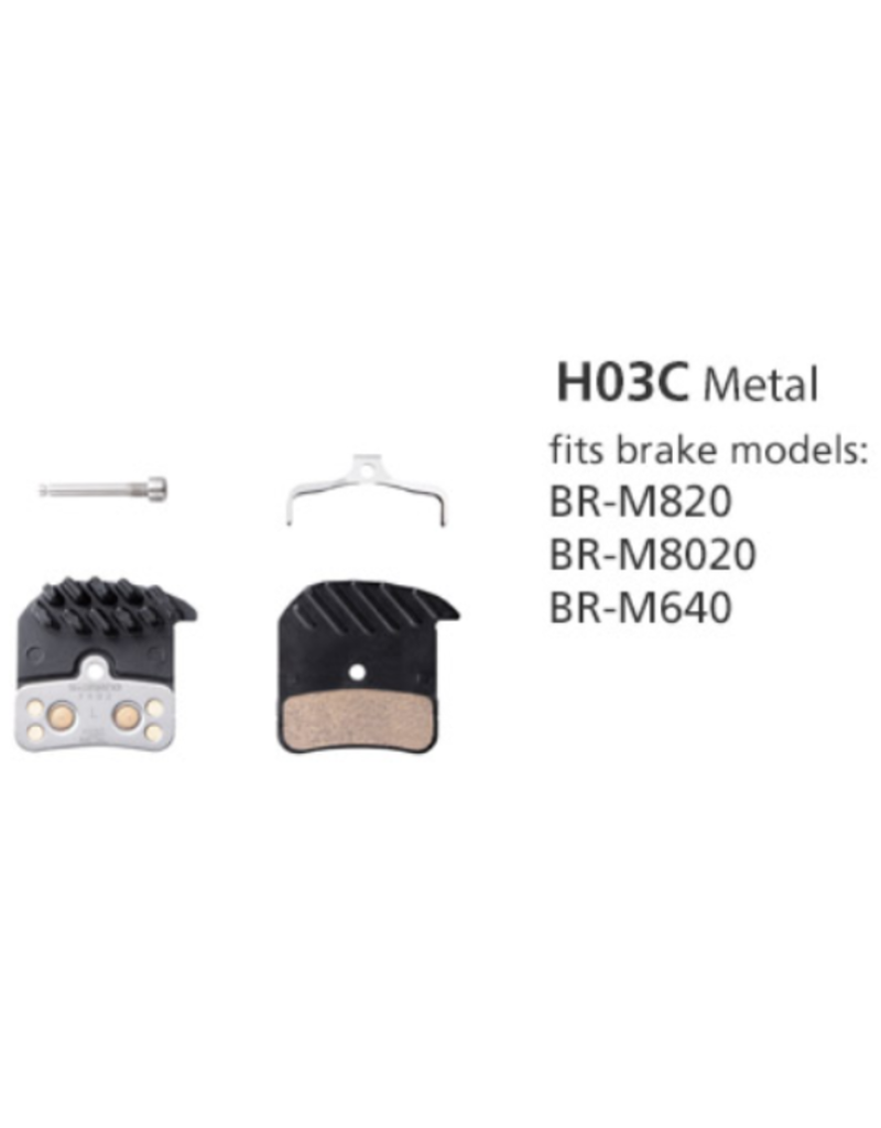 Shimano Metal Disc Brake Pads, Ice-Tech, With Spring And Split Pin