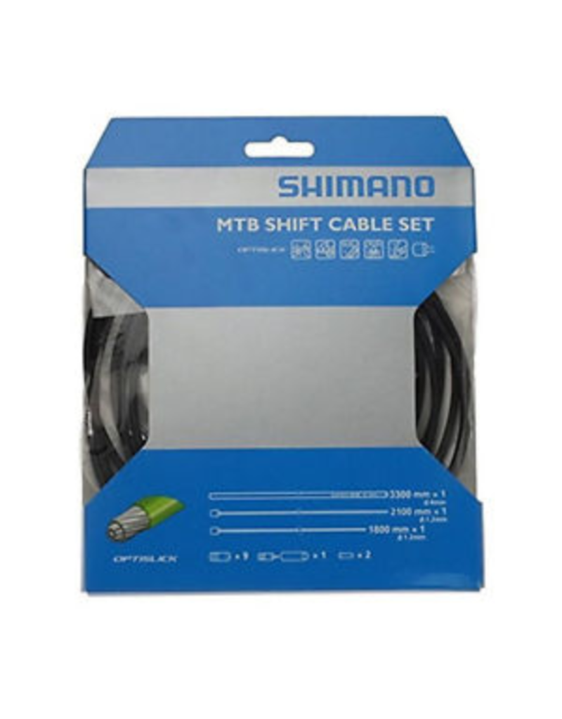 Shimano MTB Optislik Shift Cable Set, Black