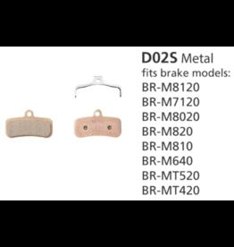 Shimano Metal Brake Pad, With Spring - D02S