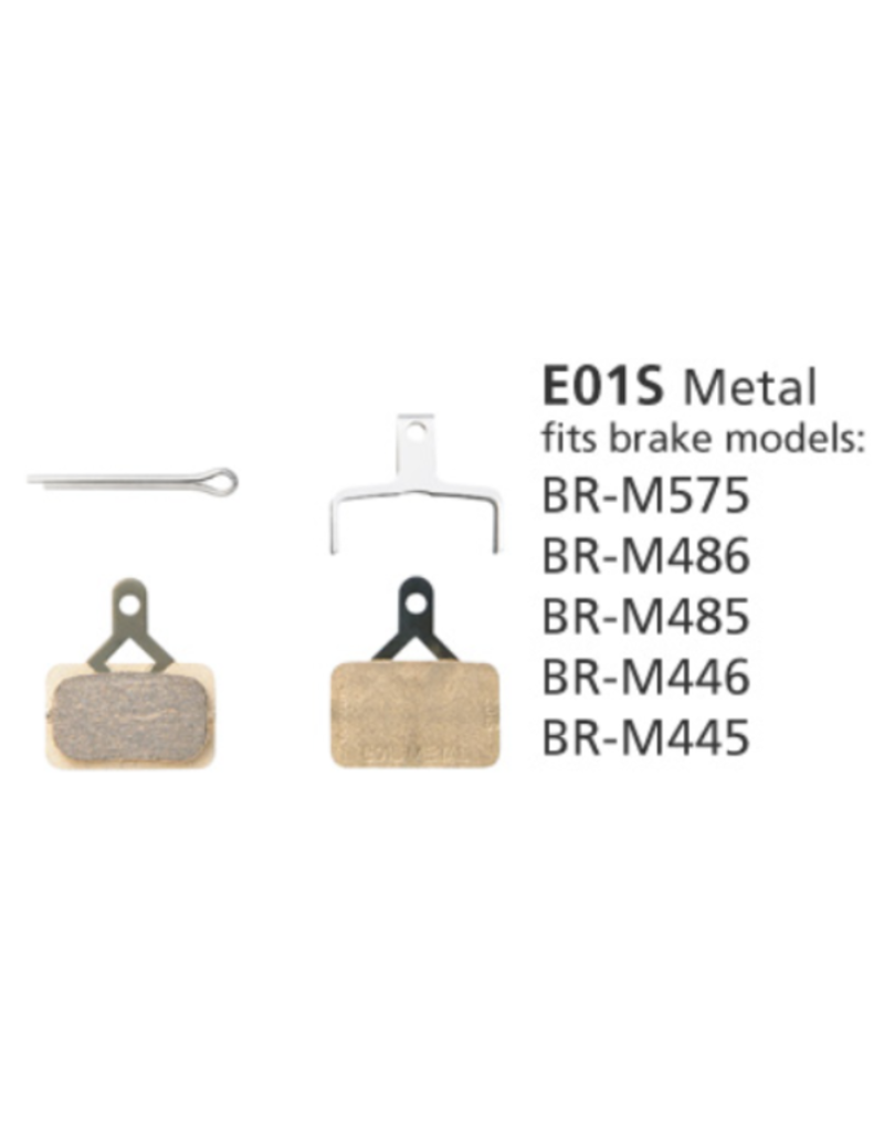 Shimano Metal Brake Pads, With Spring and Split Pin