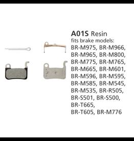 Shimano Resin Brake Pads, With Spring And Split Pin