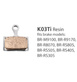 Shimano Resin Brake Pads - K03TI