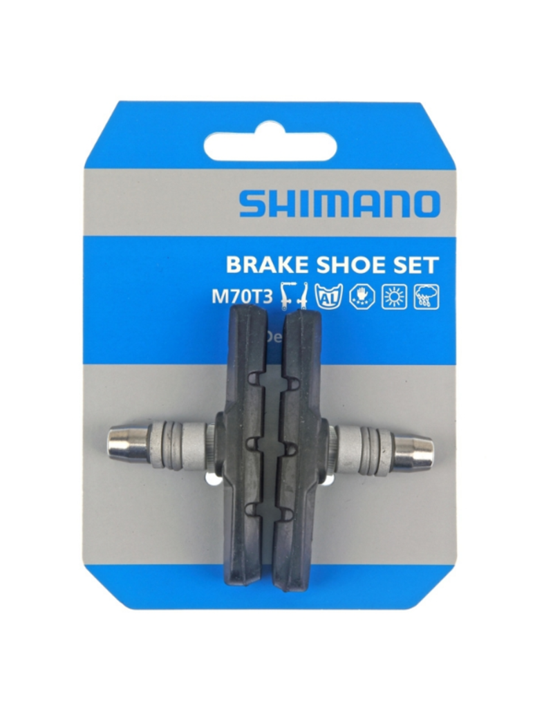 Shimano Brake-Shoe Pair, With Nut And Washer - M70T3
