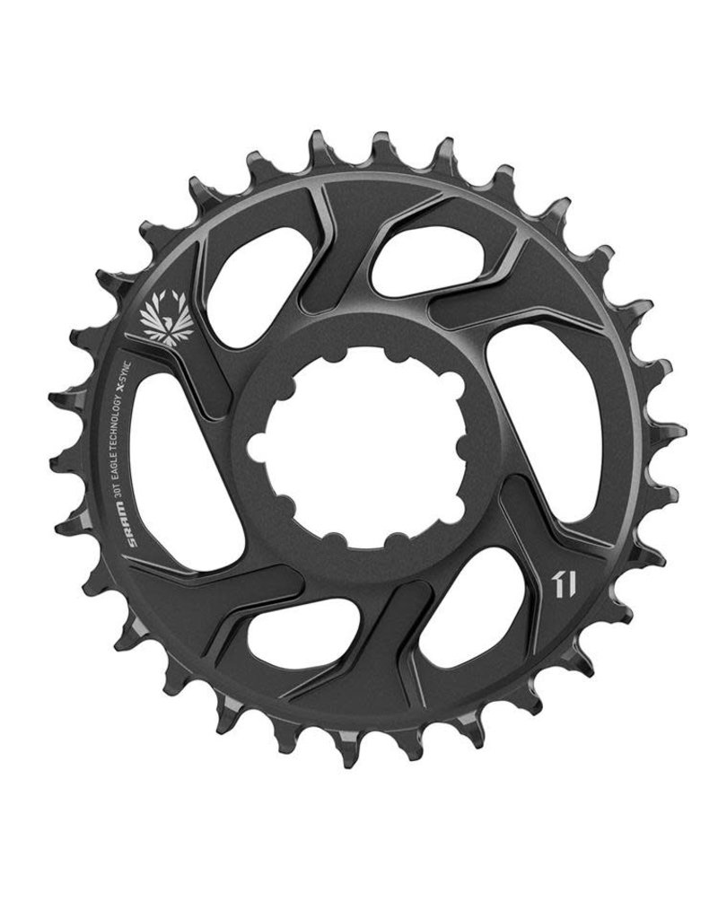 SRAM GX Chainring Xsync2 Coldforged 30T Direct Mount 3 Offset Boost - Black