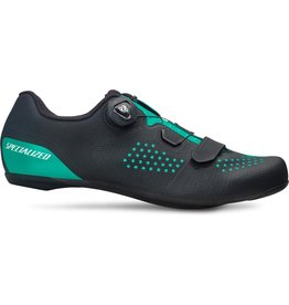 Specialized Women's Torch 2.0 Road Shoes - Black / Acid Mint