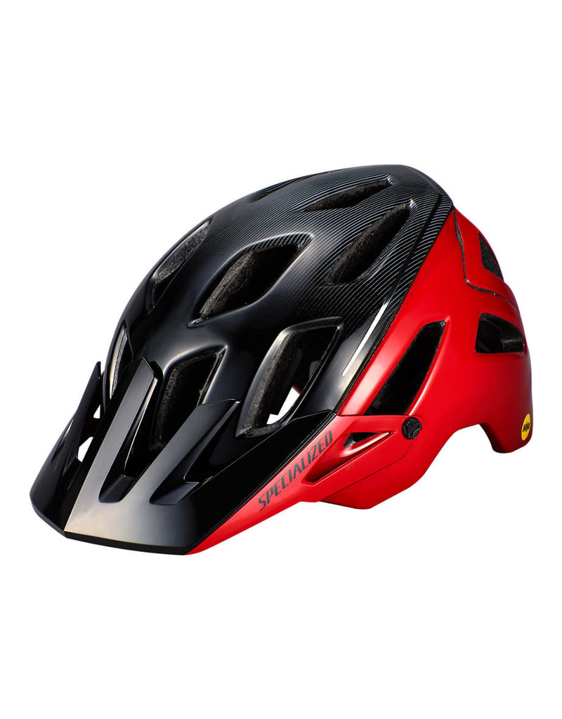 Specialized Ambush Helmet - ANGi/MIPS - Flo Red / Black -