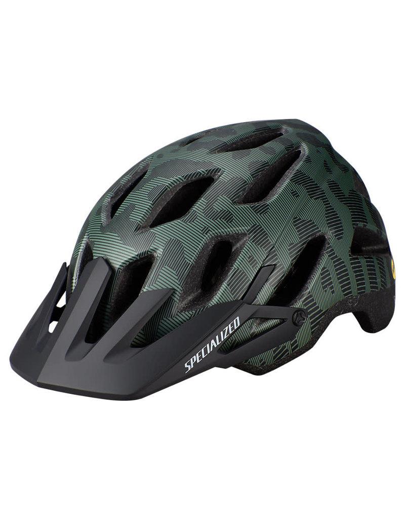 Specialized Ambush Comp Helmet - ANGi/MIPS - Green/Black -