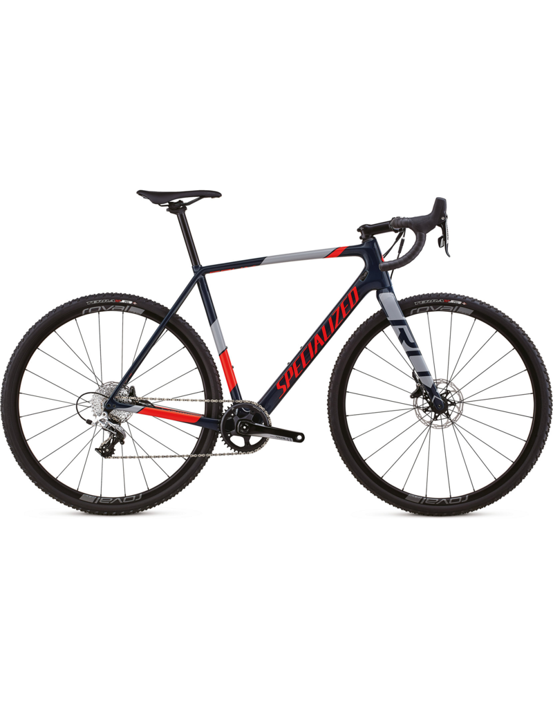 Specialized CruX Elite X1 Cast Blue / Rocket Red / Cool Grey