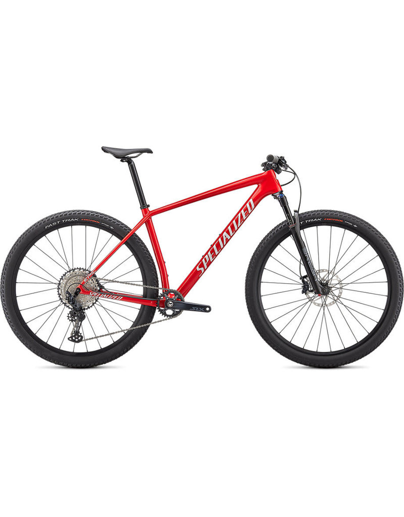 Specialized Epic Hardtail Comp - Flo Red / Red Ghost Pearl / Metallic White Silver