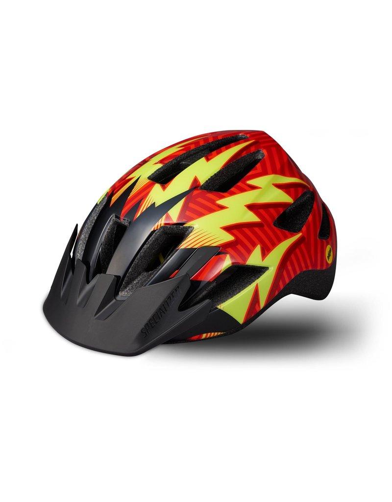 Specialized Shuffle Child Helmet - LED/SB/MIPS - Rocket Red / Black Lightning