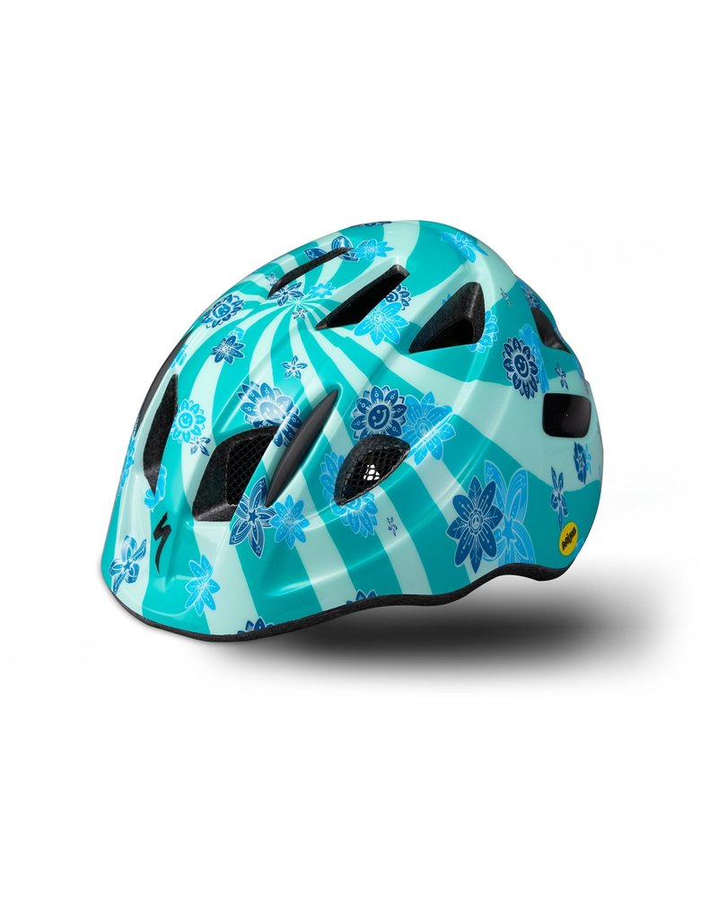 Specialized Mio Toddler Helmet with Magnetic Buckle and MIPS - Acid Mint Swirl