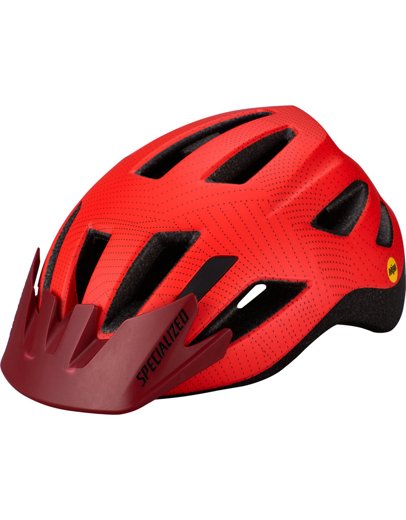 Specialized Shuffle Child Helmet with LED and MIPS - Rocket Red / Crimson Dot Plane