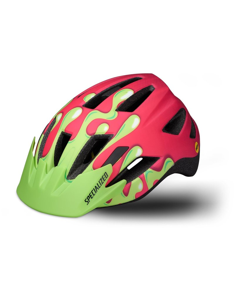 Specialized Shuffle Youth Helmet with LED and MIPS -  Acid Pink Slime