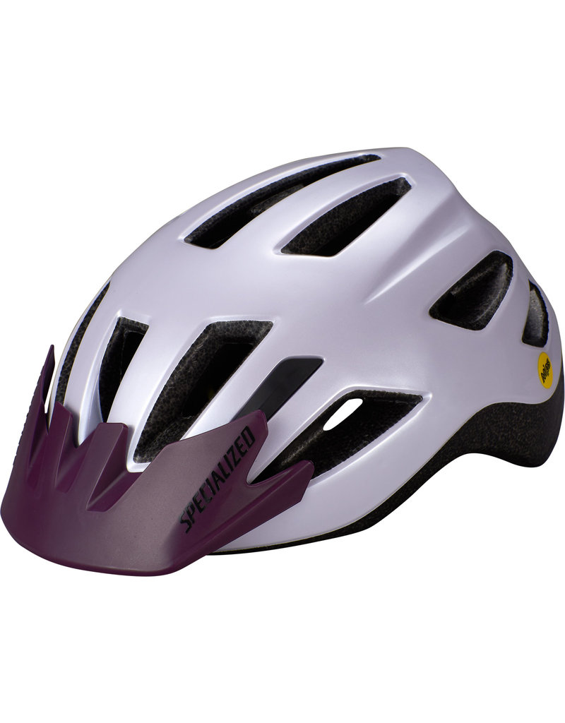 Specialized Shuffle Child Helmet - LED/SB/MIPS - UV Lilac / Cast Berry