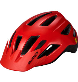 Specialized Shuffle Youth Helmet with LED and MIPS -  Rocket Red / Crimson Accel