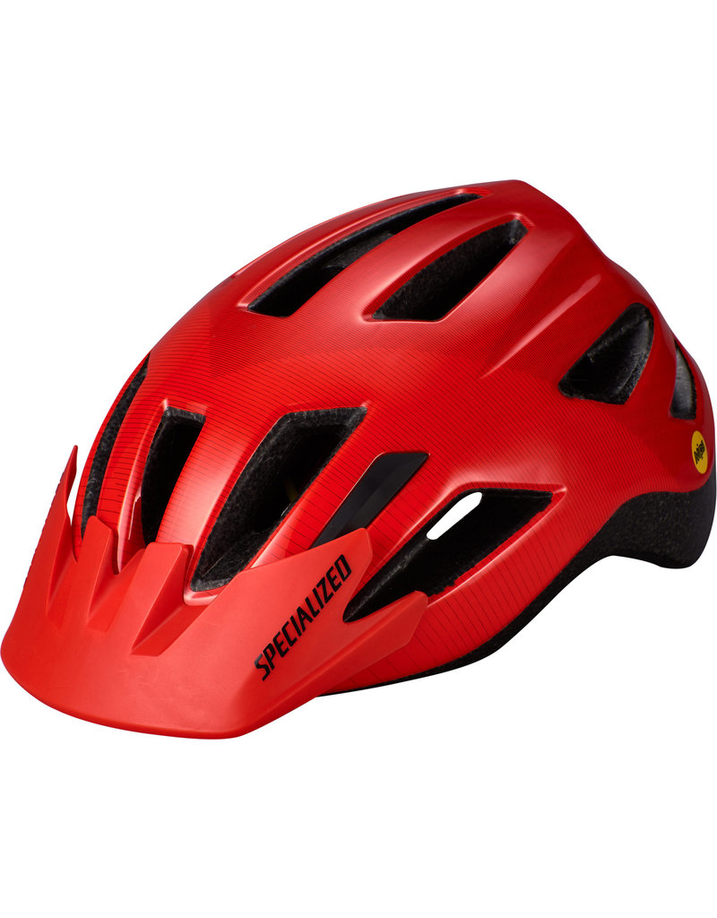 Specialized Shuffle Youth Helmet - LED/SB/MIPS -  Rocket Red / Crimson Accel