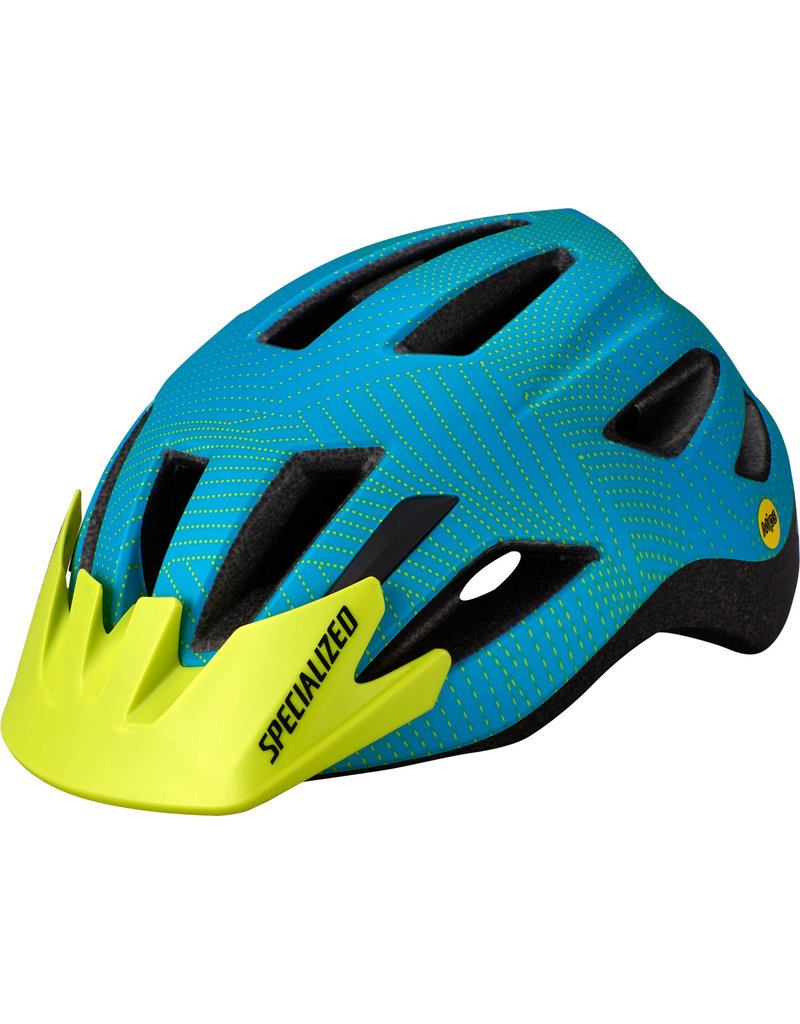 Specialized Shuffle Child Helmet - SB - Aqua / Hyper Green Dot Plane