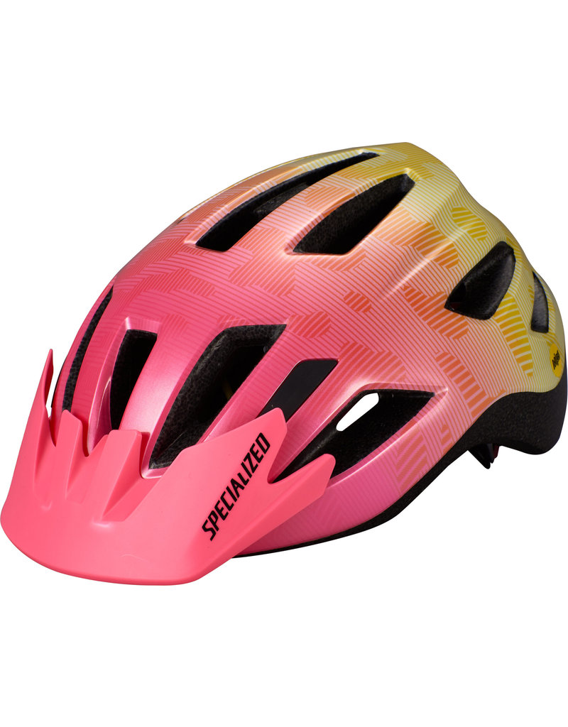 Specialized Shuffle Youth Helmet - LED/SB/MIPS -  Yellow / Acid Pink