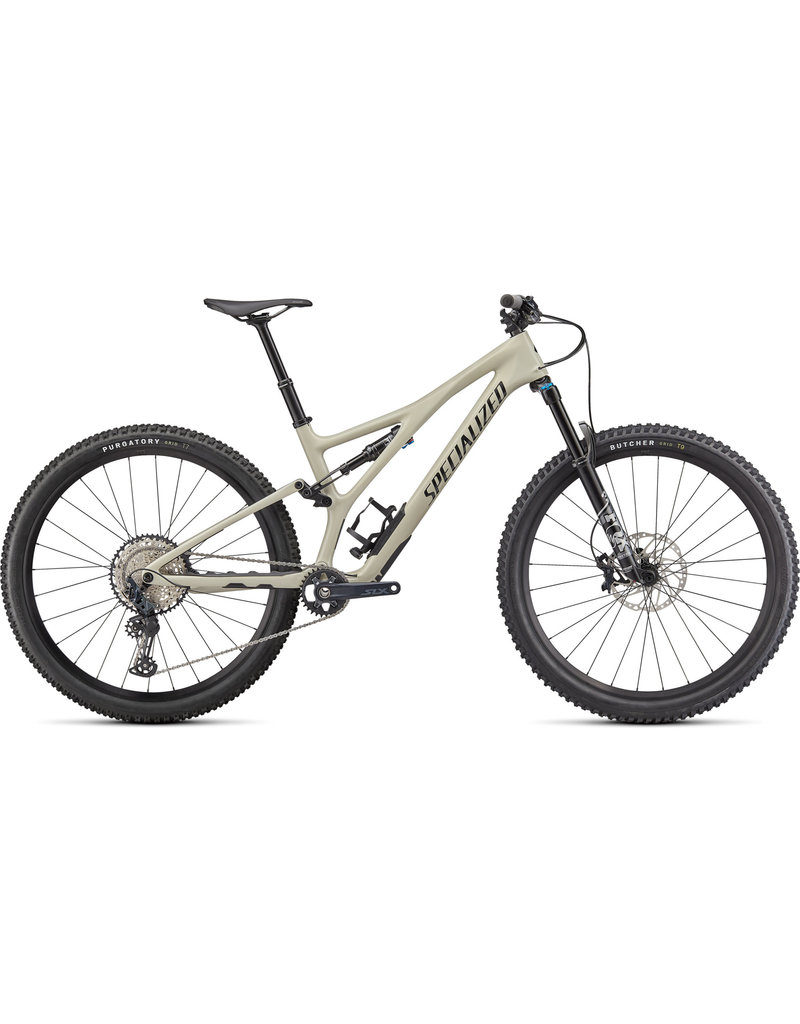 Specialized Stumpjumper Comp Carbon - Gloss White Mountains / Black -