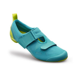 Specialized Trivent SC Womens Triathlon Shoes - Turquoise / Hyper Green