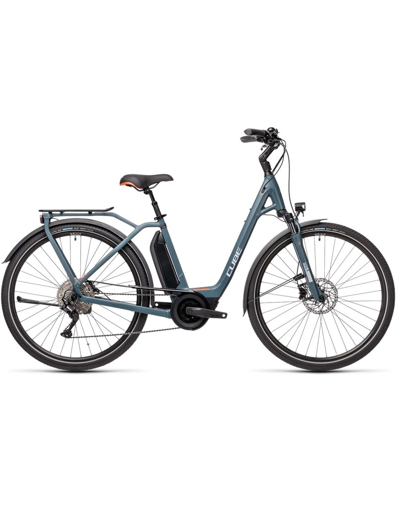 Cube 2021 Town Sport Pro 500 - Blue/Red
