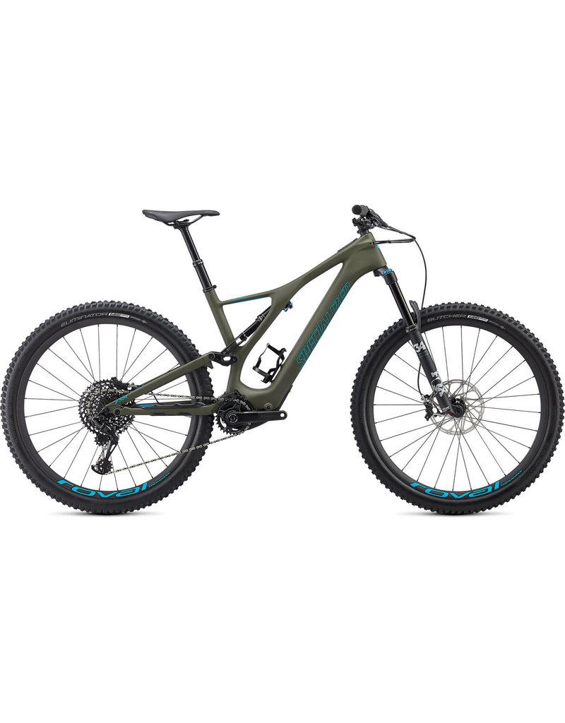 Specialized EX DEMO - Turbo Levo SL Expert Carbon - Oak Green / Aqua X-Large