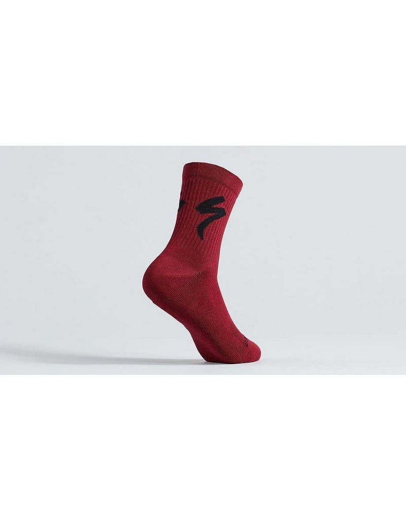 Specialized Cotton Tall Logo Sock - Maroon -
