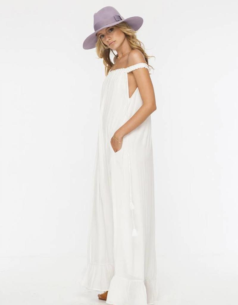 INDAH INDAH - Etta Solid Lined Off The Shoulder Maxi