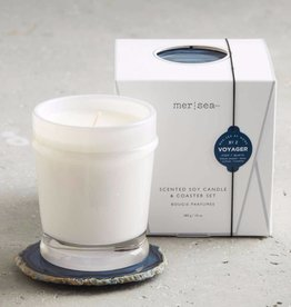 Mer-Sea & Co. Mer-Sea & Co. - Voyager Boxed Candle & Agate Coaster