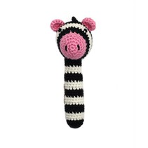 Animal Stick Crocheted Rattle