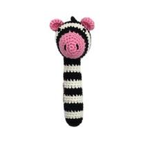 Animal Stick Crocheted Rattle