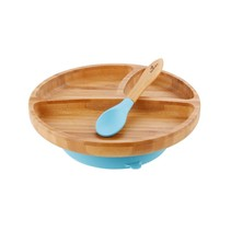 Bamboo & Silicone Toddler Suction Plate & Spoon