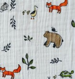Little Unicorn Cotton Muslin Swaddle: Forest Friends by Little Unicorn