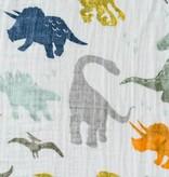 Little Unicorn Cotton Muslin Swaddle: Dino Friends by Little Unicorn
