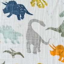 Cotton Muslin Swaddle: Dino Friends