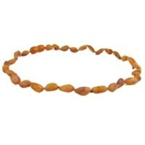 "Cognac Baltic Amber Teething Necklace (10-11"")"