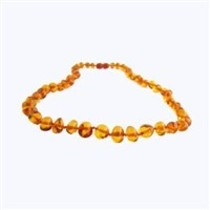 "Honey Baltic Amber Teething Necklace (10-11"")"