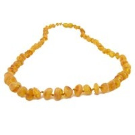 "The Amber Monkey Honey Baltic Amber Teething Necklace (10-11"")"