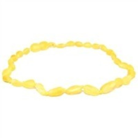 "The Amber Monkey Lemon Baltic Amber Teething Necklace (10-11"")"