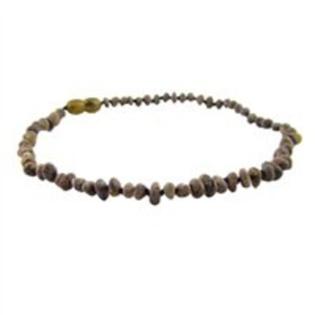 "The Amber Monkey Olive Baltic Amber Teething Necklace (10-11"")"