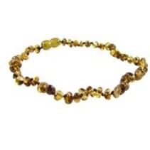"Pear Baltic Amber Teething Necklace (10-11"")"