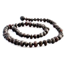 "Chestnut Baltic Amber Teething Necklace (10-11"")"