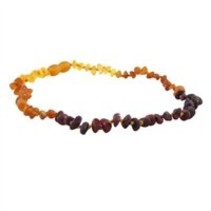 "Baltic Amber Necklace (12-22"") Rainbow Baroque Raw 12-13"