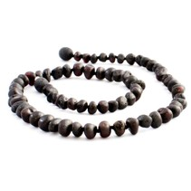 "Chestnut Baroque Raw Baltic Amber Necklace (12-22"")"