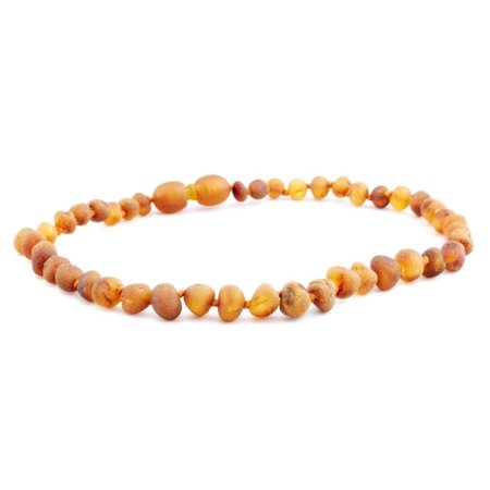 "The Amber Monkey Cognac Baroque Raw Baltic Amber Necklace (12-22"")"
