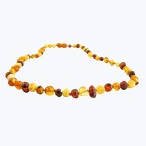 "Multi Baroque Polished Baltic Amber Necklace (12-22"")"