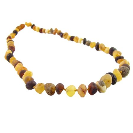 "The Amber Monkey Multi Baroque Raw Baltic Amber Necklace (12-22"")"