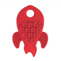 Poppies Silicone Teether Red Rocket