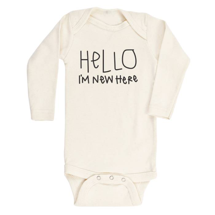 1bcf69f77 Hello I m New Here- Long Sleeve Onesie
